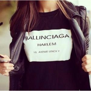 Черна тениска Ballinciaga