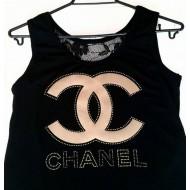 Туника с дантелен гръб на Chanel