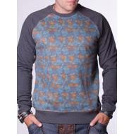 Мъжка блуза Burton ватиранa - тъмносива