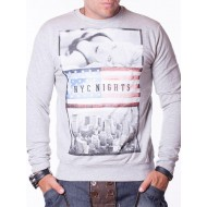 Мъжка блуза NYC - сива