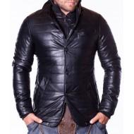 Мъжко кожено яке Black Hawk черно