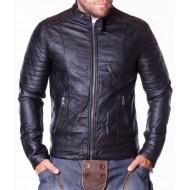 Мъжко кожено яке Blud черно