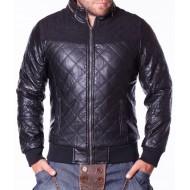 Мъжко кожено яке Tony Backer черно