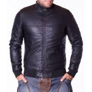 Мъжко кожено яке Vanzeer черно