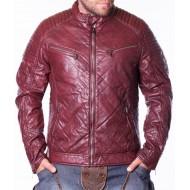 Мъжко кожено яке X Jeans бордо