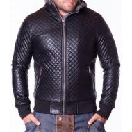 Мъжко кожено яке YT3 черно