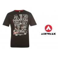 Airwalk Print T Shirt Mens black