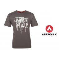 Airwalk Print T Shirt Mens charcoal