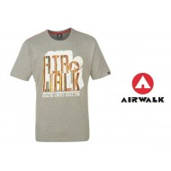 Airwalk Print T Shirt Mens grey