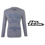 No Fear Long Sleeve Crew T Shirt Mens Colour Blue Size Medium