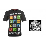 Obscene Print T Shirt Mens Colour I Have An App