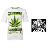 Obscene Print T Shirt Mens warning