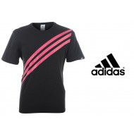 Аdidas Stripes T Shirt Mens Colour Black Pink