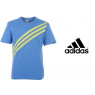 Аdidas Stripes T Shirt Mens Colour Fresh Blue